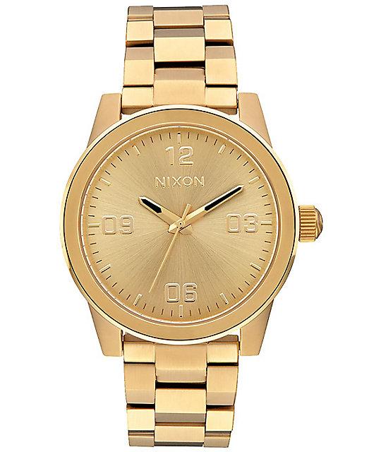 Nixon G.I. SS All Gold Analog Watch