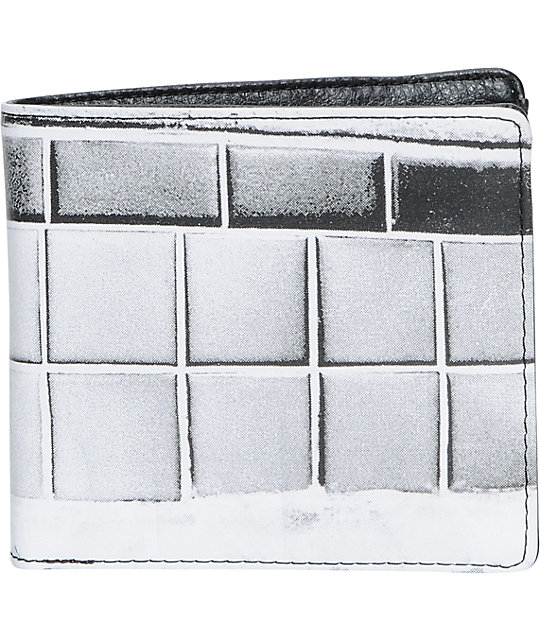 Nixon Heritage White & Black Leather Wallet