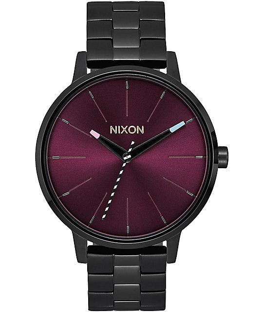 Watch Links Nixon Purple: Nixon Kensington Black & Purple Analog Watch At Zumiez : PDP