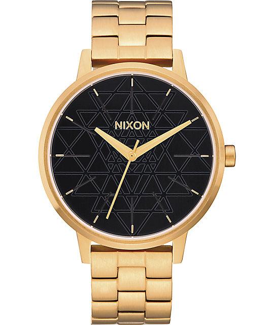 Nixon Kensington Sacred Geo Gold & Black Watch
