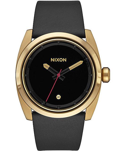 Nixon Kingpin Leather Black Watch