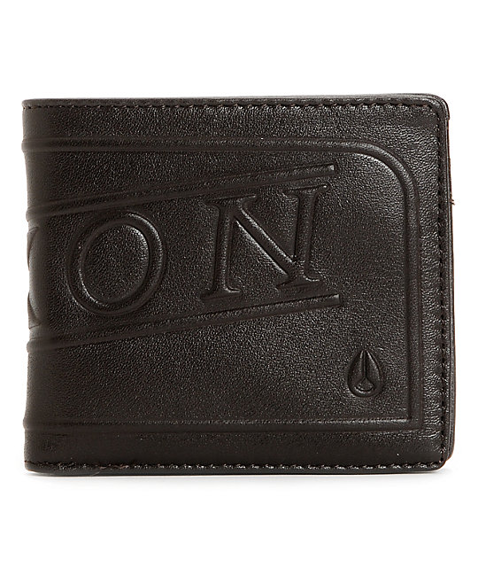 Nixon Labelled Brown Bifold Leather Wallet