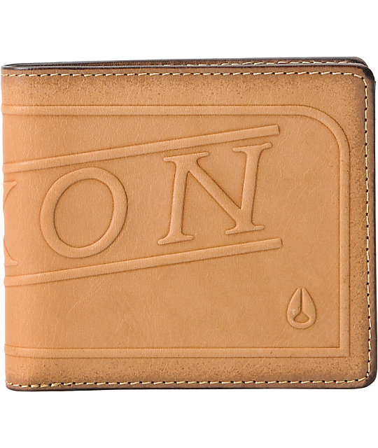 Nixon Labelled Tan Bifold Saddle Wallet