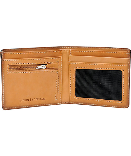 Nixon Labelled Tan Bifold Wallet