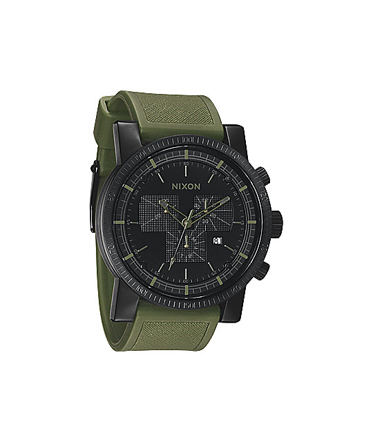 Nixon Magnacon Matte Black & Surplus Chronograph Watch