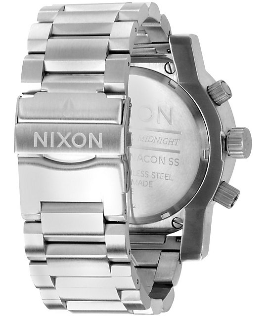 Nixon Magnacon SS White SR Mens Chronograph Watch