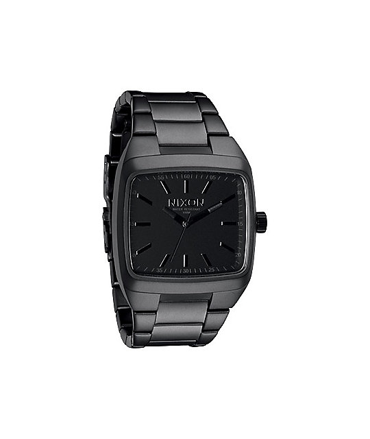 Nixon Manual II Matte Black & Matte Gunmetal Mens Analog Watch