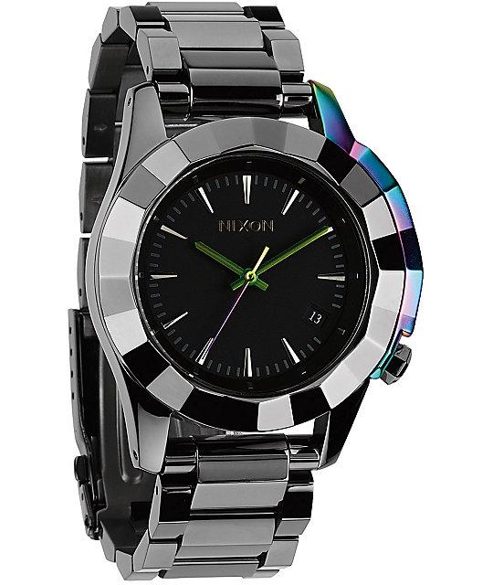 Nixon monarch analog watch at zumiez pdp for Watches zumiez