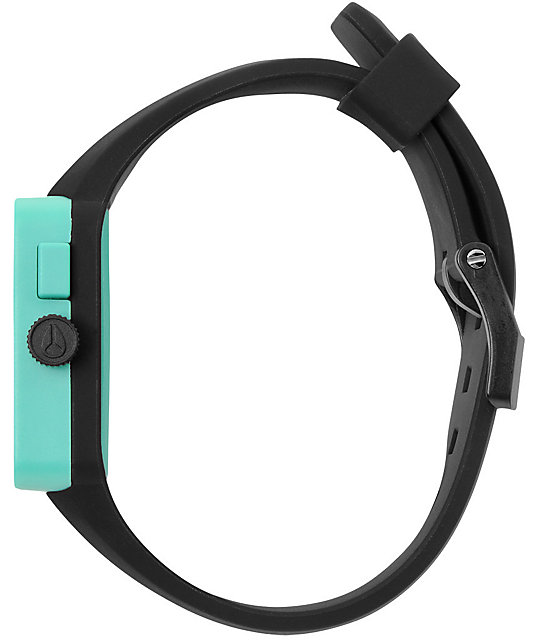 Nixon Newton Black & Teal Mens Analog Watch