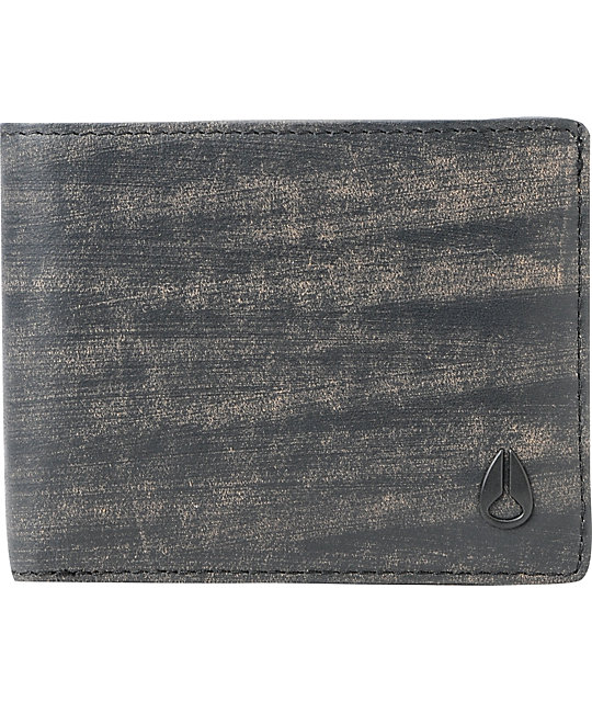 Nixon Pass ID Black Wash Bifold Wallet