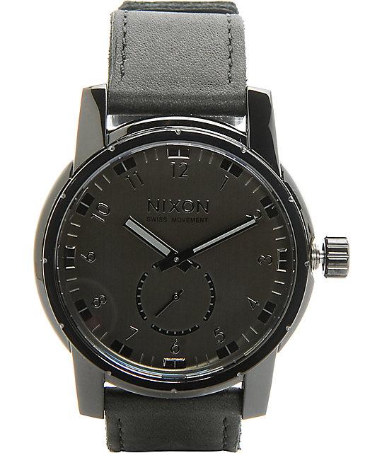 Nixon patriot leather analog watch zumiez for Watches zumiez