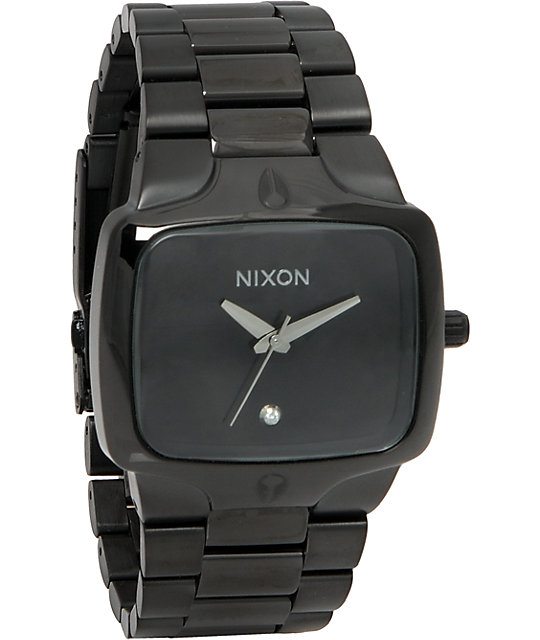 Nixon Player All Black Analog Watch