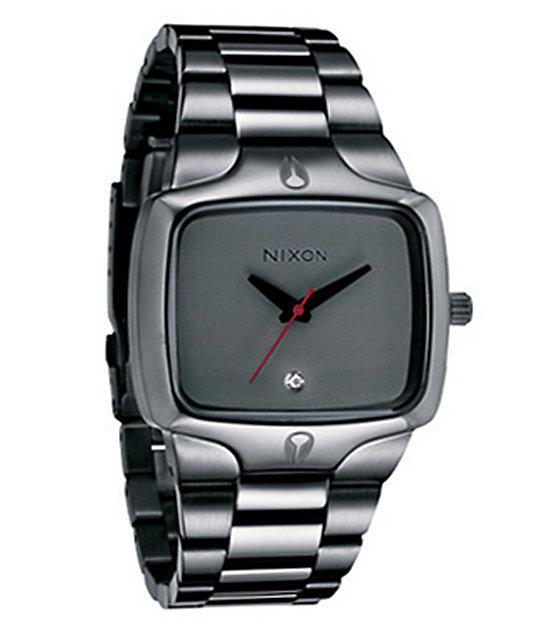Nixon Player Gunmetal Analog Watch