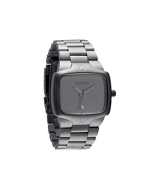 nixon player matte black matte gunmetal mens watch at zumiez pdp nixon player matte black matte gunmetal mens watch