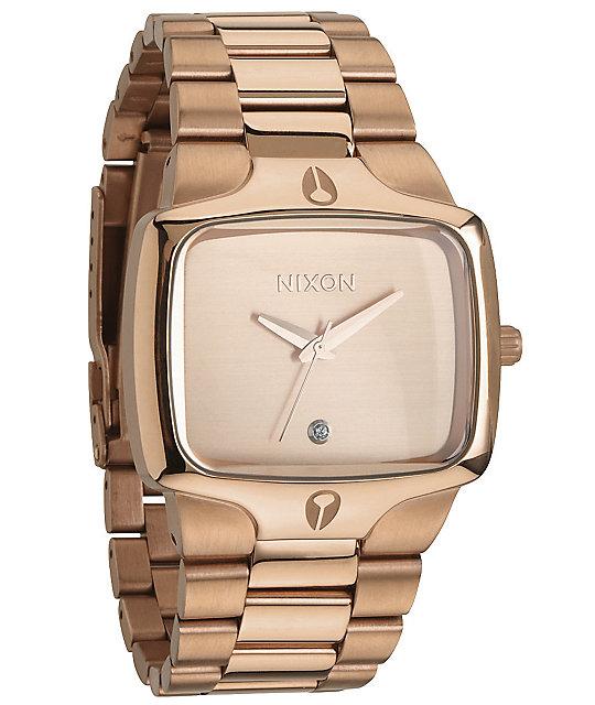 Nixon Player Rose Gold Analog Watch