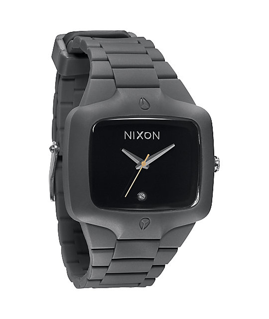Nixon Player Rubber Gray & Black Analog Watch