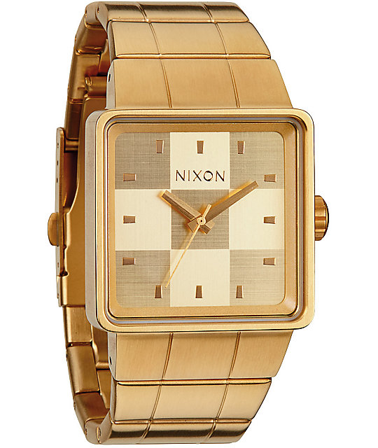 Nixon Quatro All Gold Analog Watch