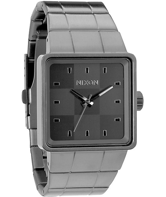 Nixon Quatro Gun Metal Analog Watch