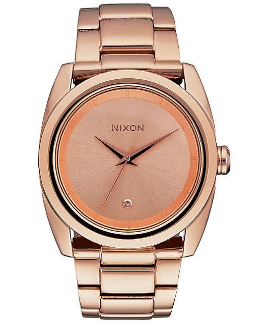 Nixon queenpin all rose gold analog watch at zumiez pdp for Watches zumiez