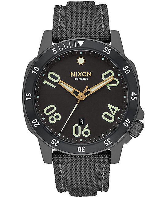 Nixon Ranger Nylon Gunmetal & Lum Watch