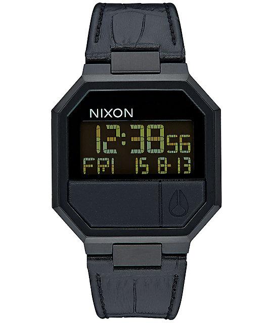 nixon re run leather digital