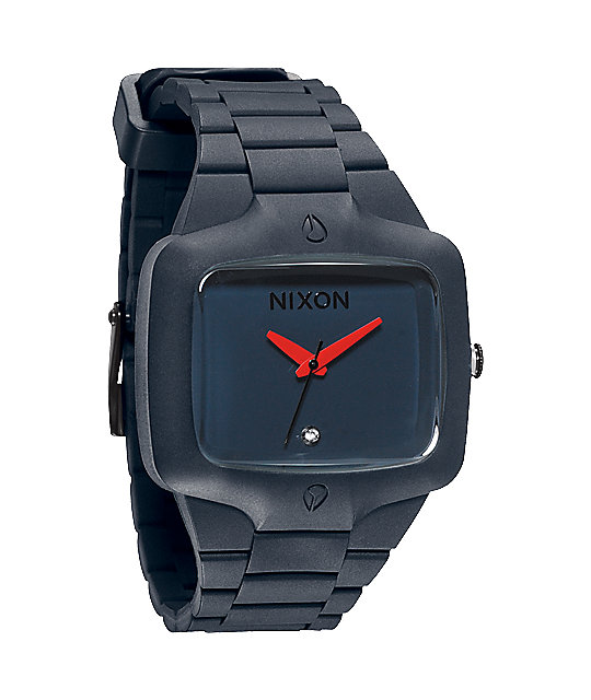 Nixon Rubber Player Gunship Analog Watch