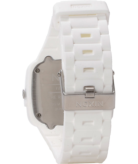 Nixon Rubber Player White Analog Watch