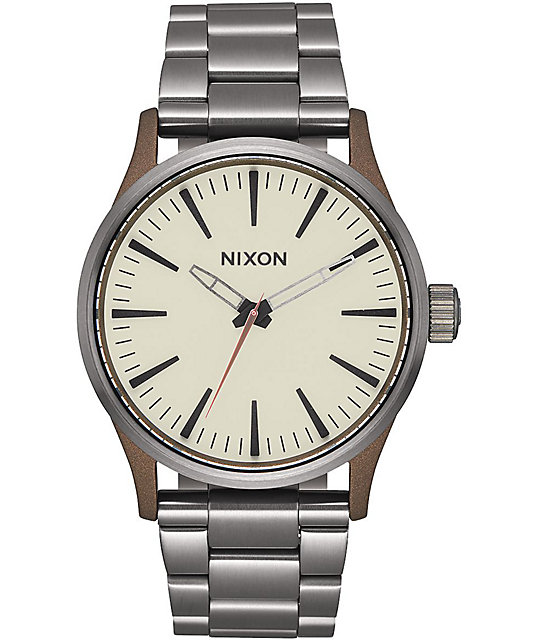 Nixon Sentry 38 SS Bronze & Gunmetal Watch