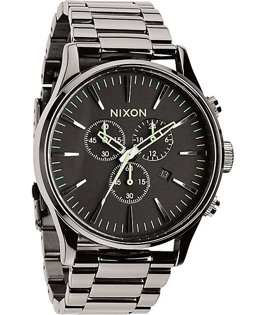 Nixon sentry chronograph watch zumiez for Watches zumiez