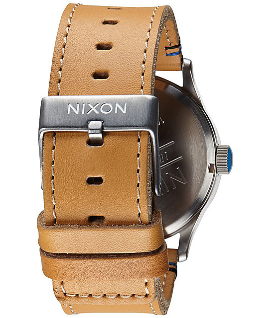 Nixon Sentry Natural Leather Analog Watch