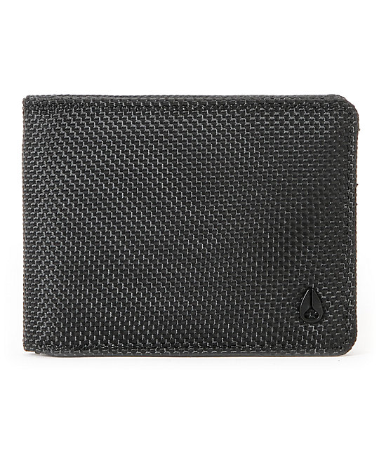Nixon Shadow Black Bi-Fold Wallet