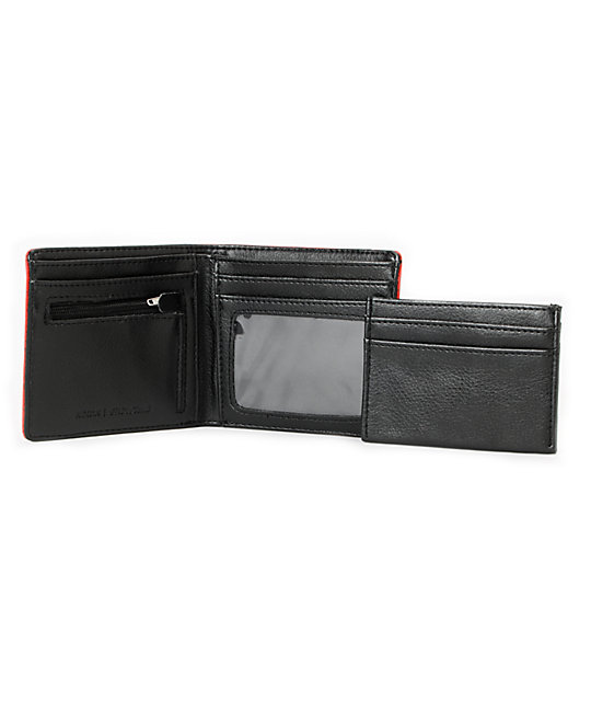 Nixon Showdown Bermuda Red Bi-Fold Wallet