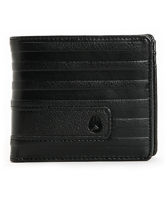 Nixon Showdown Black Line Bifold Wallet
