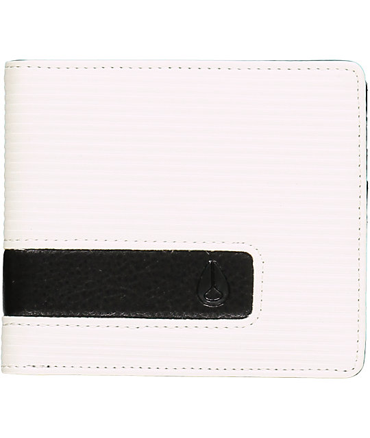 Nixon Showoff Fine White Bi-Fold Wallet