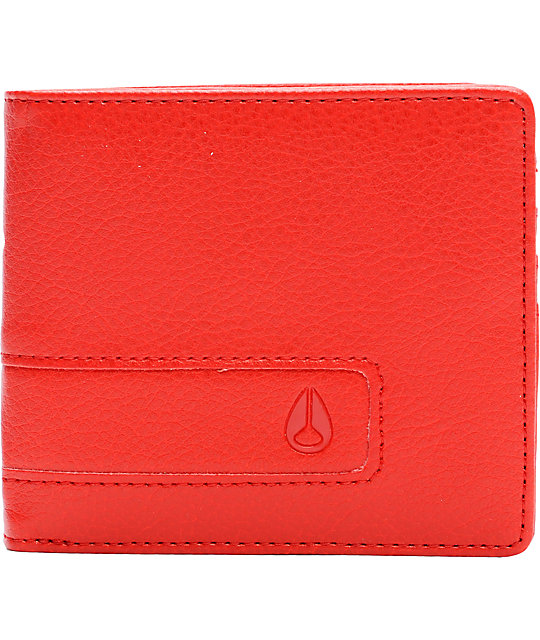 Nixon Showoff Red Pepper Bifold Wallet