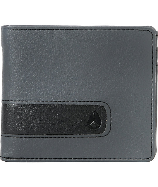 Nixon Showtime Bifold Wallet in Charcoal & Black