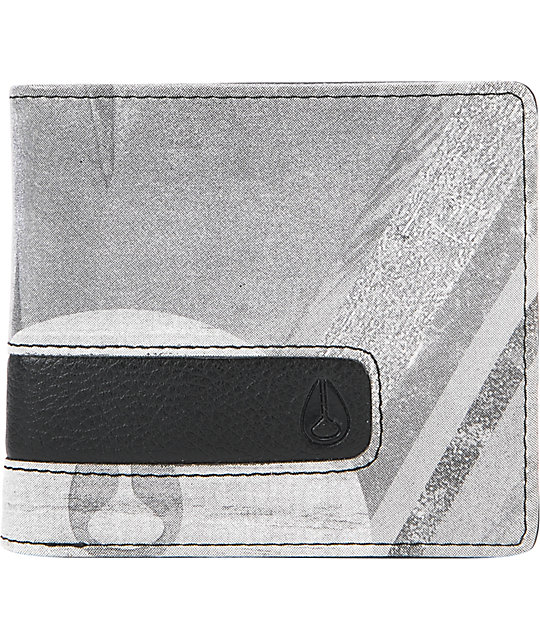 Nixon Showtime White Print Bi-Fold Wallet