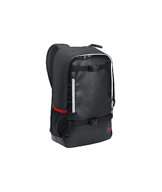 Nixon Smith Black, Red, & White Skate Backpack