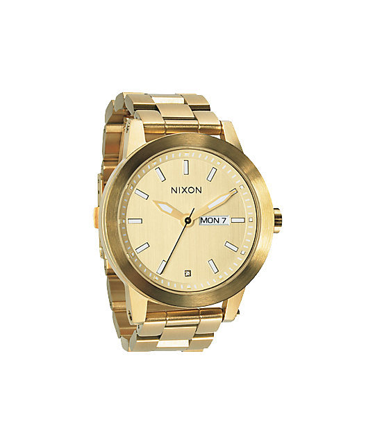 Nixon spur all gold mens watch at zumiez pdp for Watches zumiez