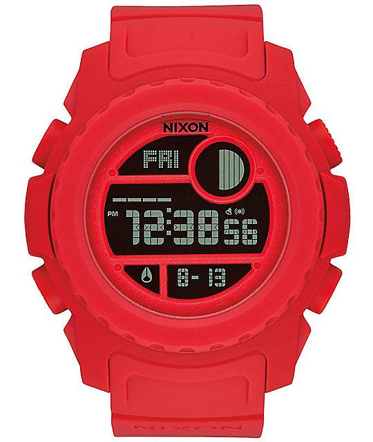 Nixon Super Until All Red Digital Watch