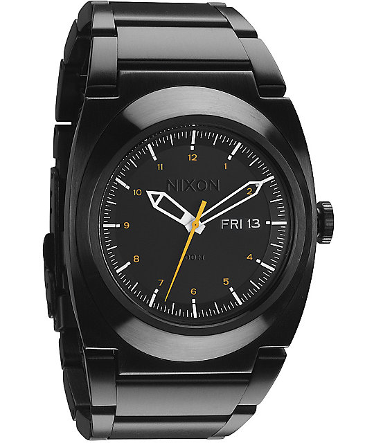 Nixon The Don All Black & Orange Watch