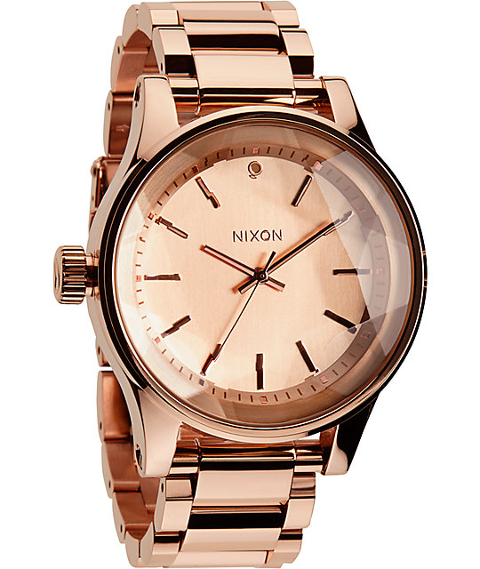 Nixon The Facet All Rose Gold Watch