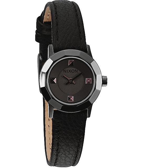 Nixon The Mini B Black & Gunmetal Analog Watch