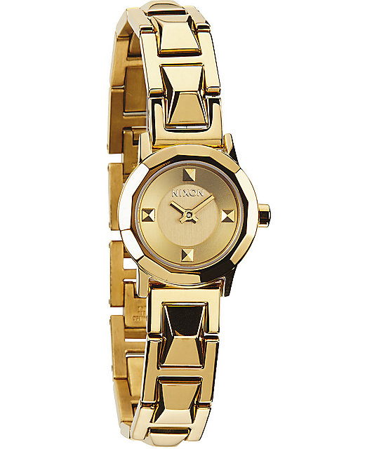 Nixon The Mini B SS Gold Analog Watch