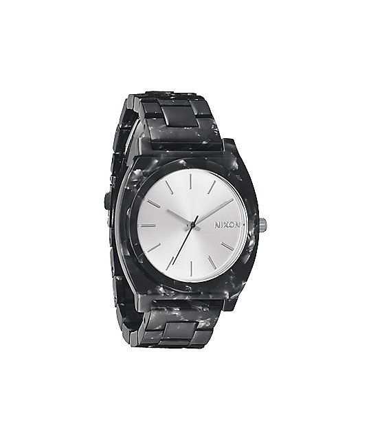 Nixon Time Teller Acetate Gray Granite Analog Watch