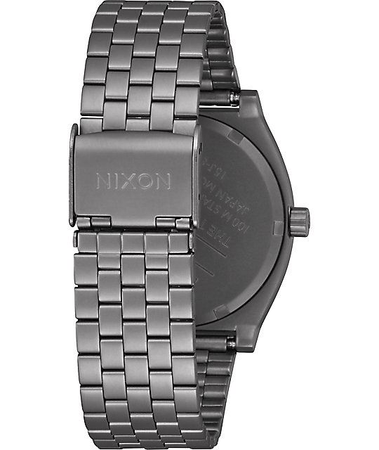Nixon Time Teller All Gunmetal & Dark Blue Watch
