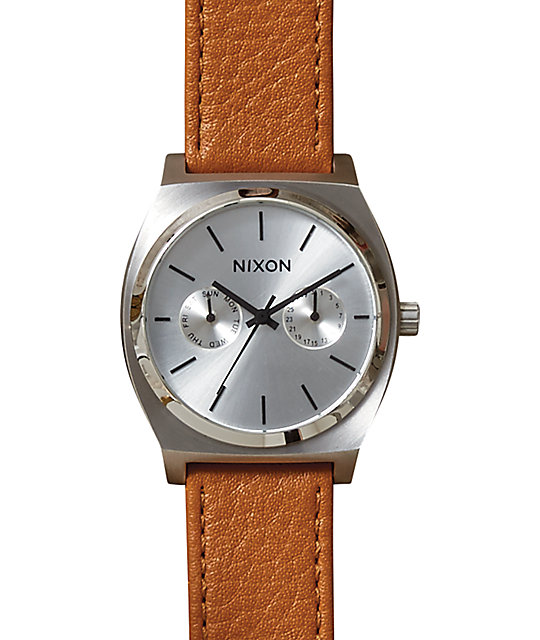 Nixon Time Teller Deluxe Leather Analog Watch