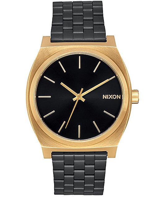 Nixon time teller gold black sunray watch for Watches zumiez