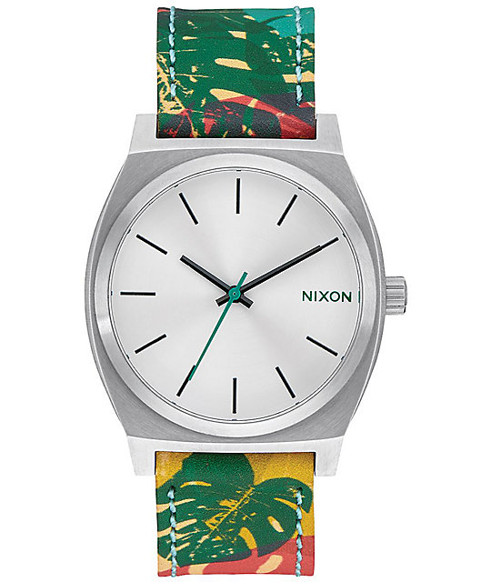Nixon Time Teller Leather Palmade Analog Watch