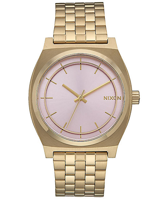 Nixon Time Teller Light Gold & Pink Watch